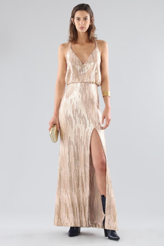 Bronze sequins dress
