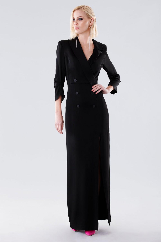 Long tuxedo dress