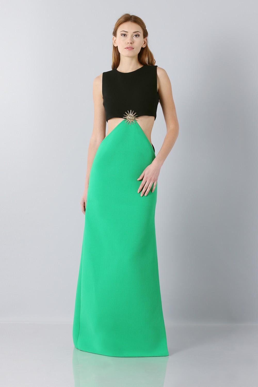 Wool crepe dress