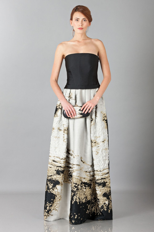 Long bustier dress