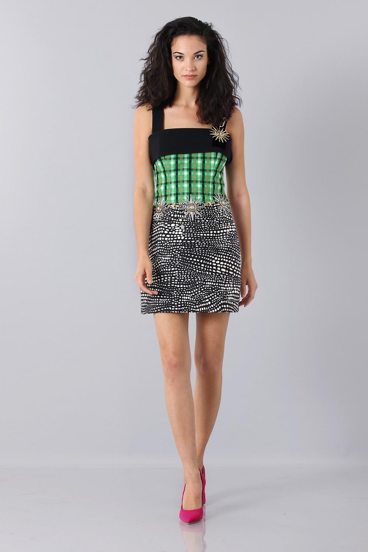 Patterned strap dress
