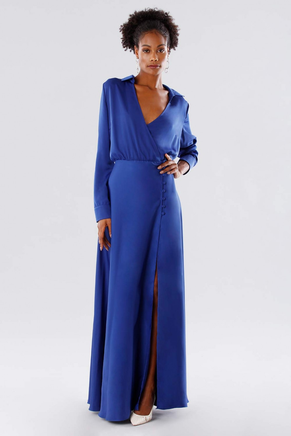 Dress with side buttons