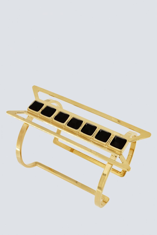Bracelet with black Swarovski