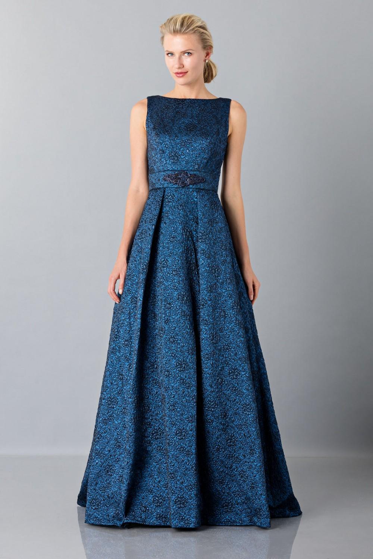 Light blue dress with detail at the waist