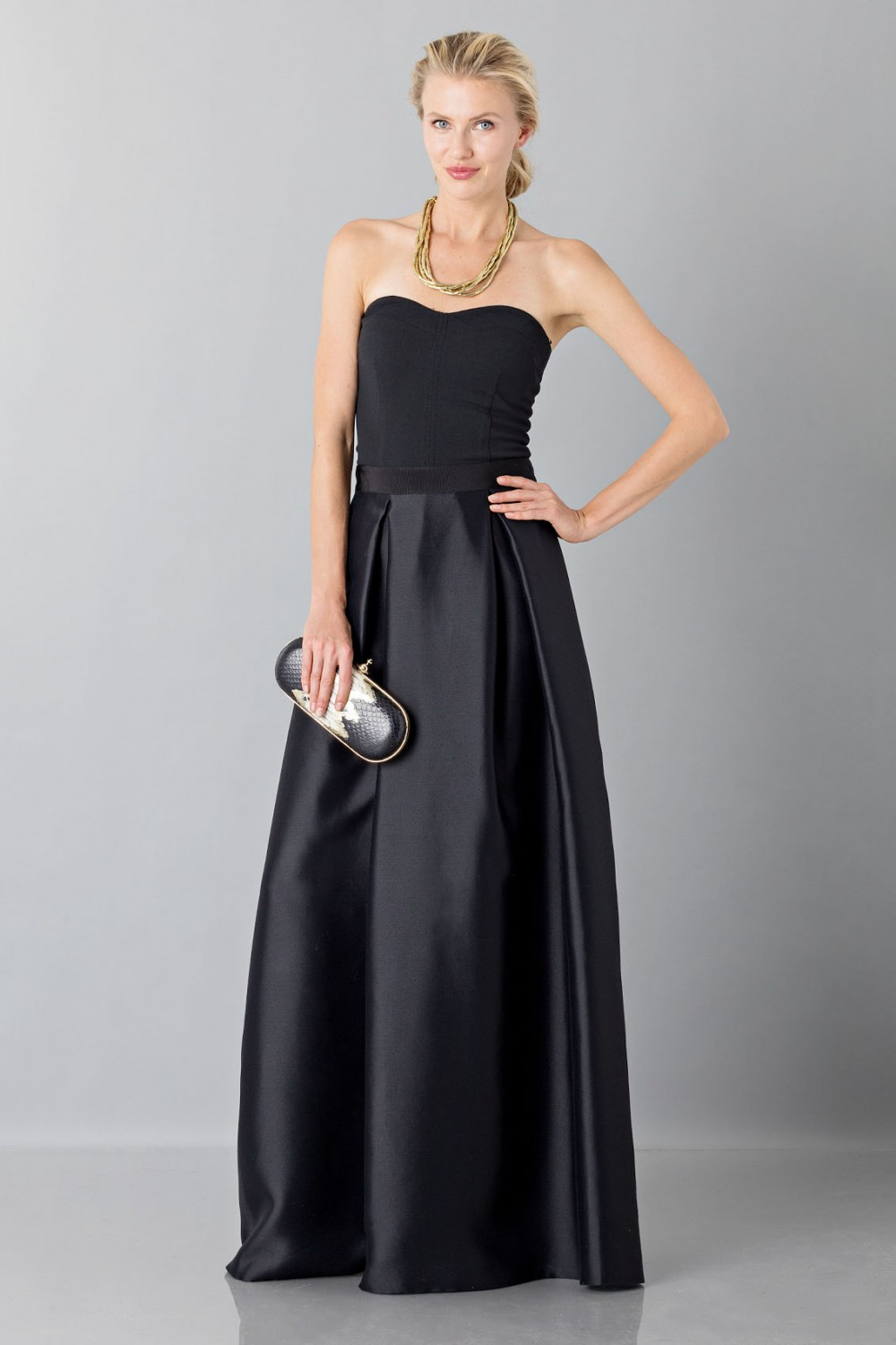 Full skirt and bustier top