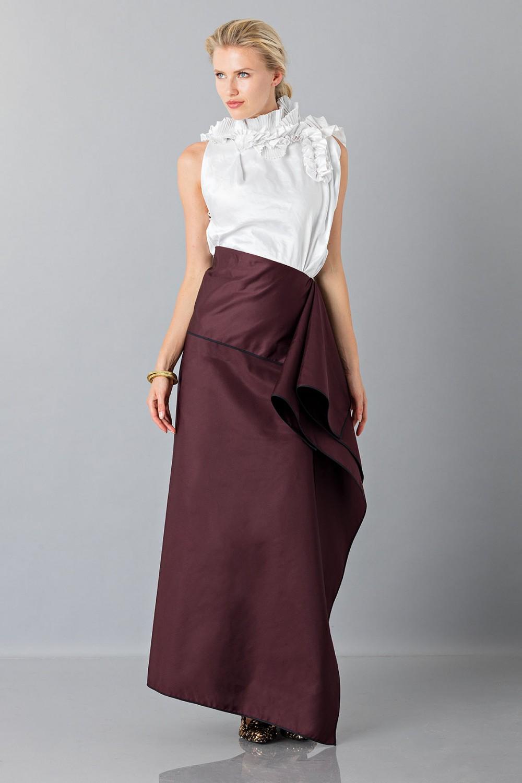 Bordeaux skirt with anterior drapery