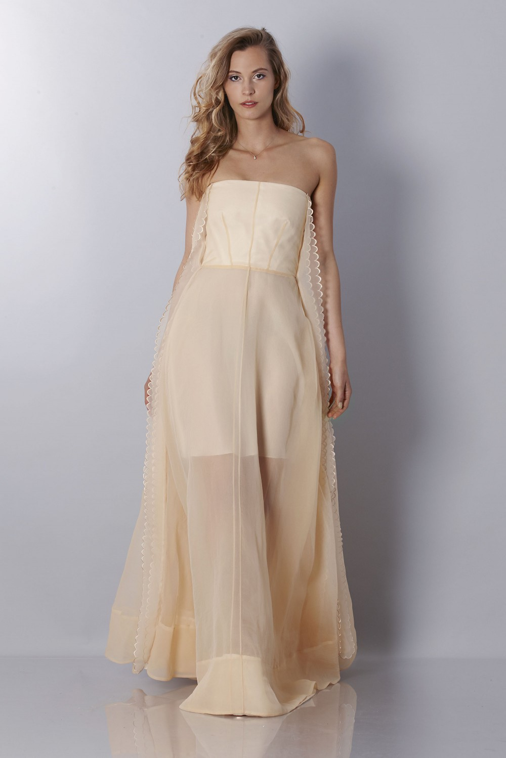Ivory bustier dress