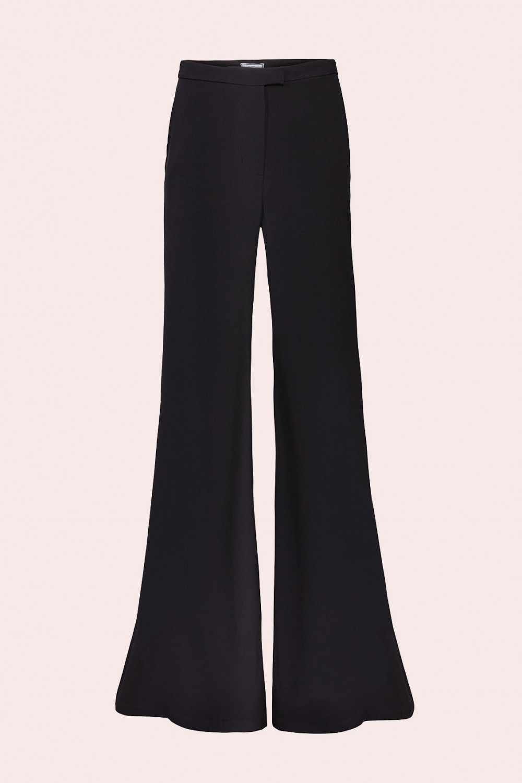 Pantalone svasato in raso cady