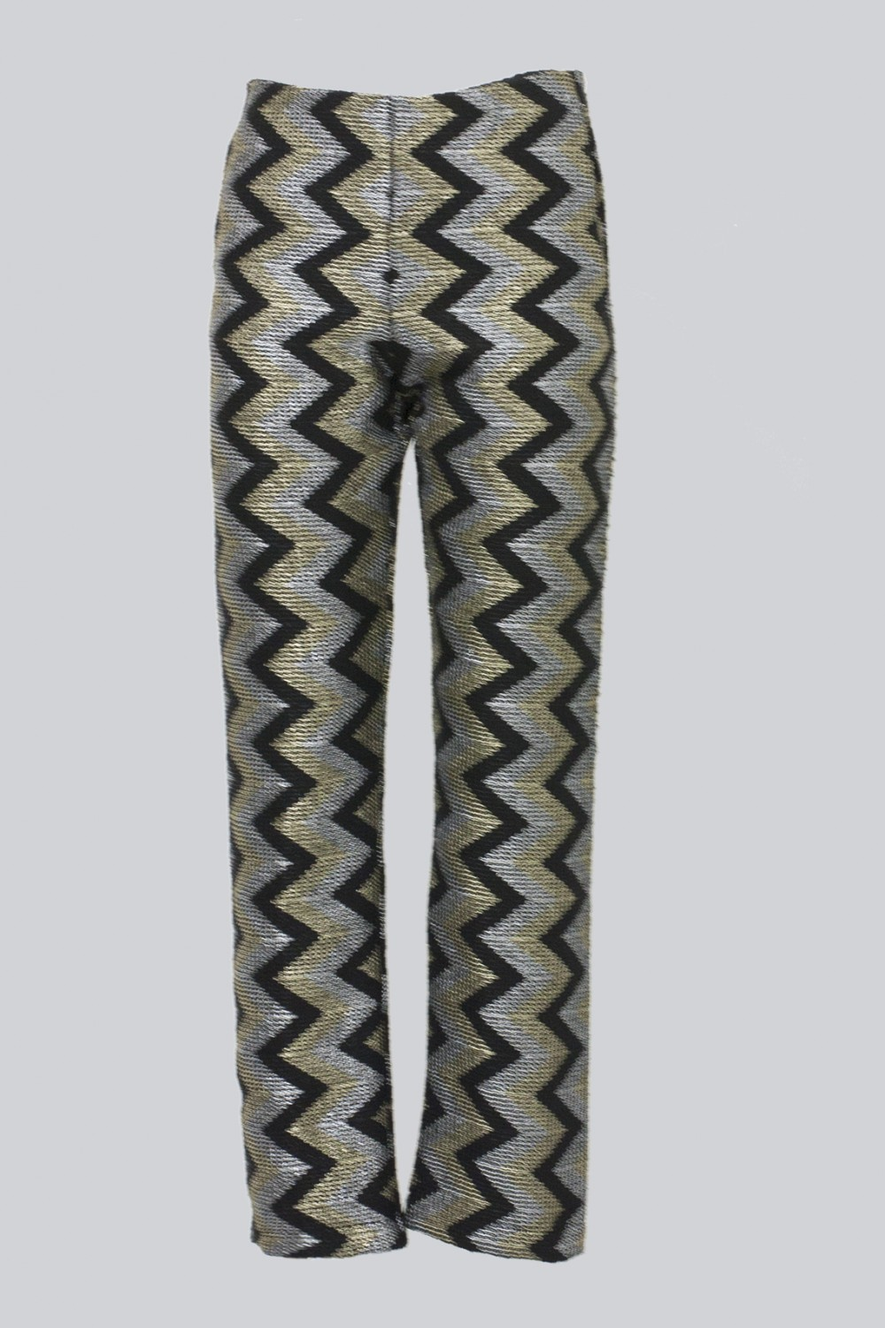 Alcoolique high-waisted trousers with geometric pattern