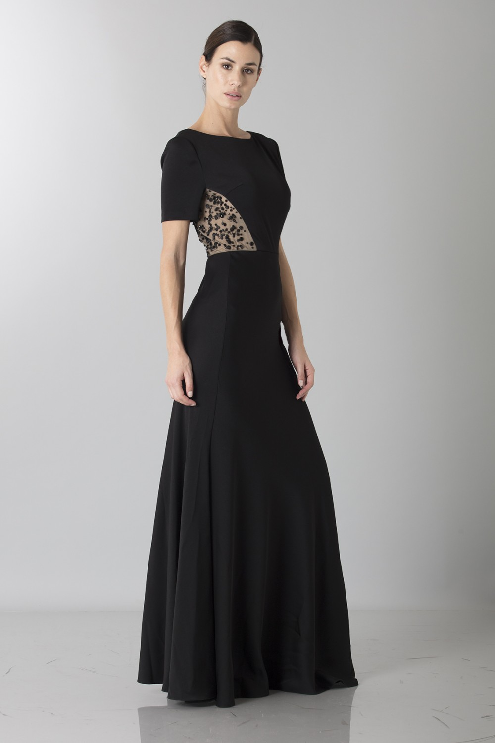 Short sleeve dress with side lace