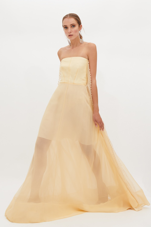 Vendita Abbigliamento Usato FIrmato - Ivory bustier dress - Rochas - Drexcode -6