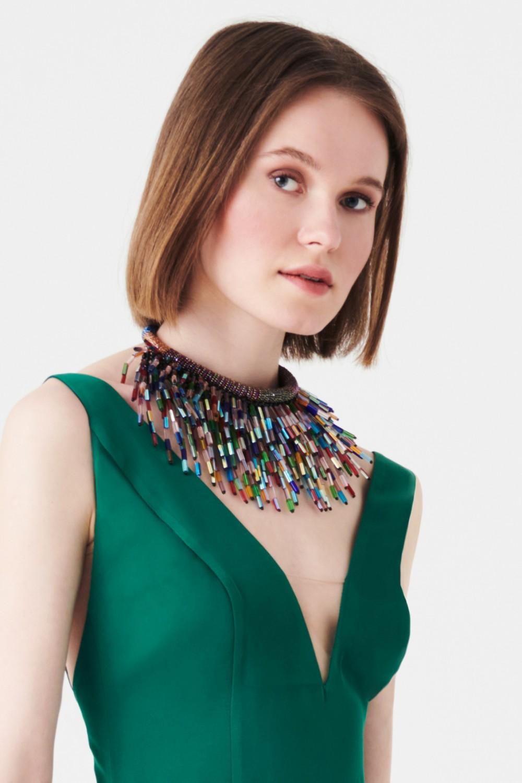 Collana multicolor in vetro e cristalli
