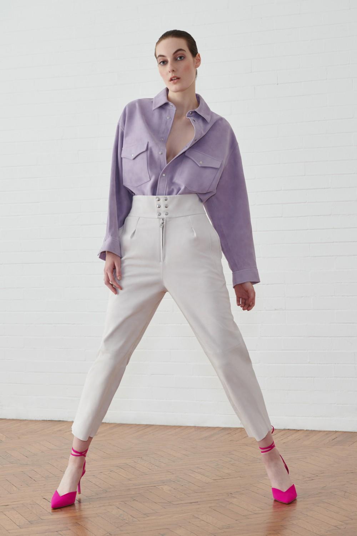 Completo camicia e pantalone in suede