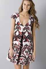 Drexcode - Brocade patterned dress - Albino - Sale - 4