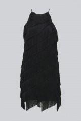 Drexcode - Mini-dress with fringes - Halston - Rent - 4