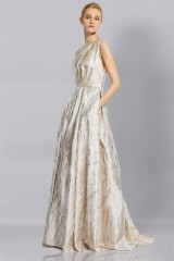 Drexcode - Long dress with golden pattern - Ports 1961 - Rent - 3