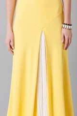 Drexcode -  Yellow one-shoulder dress with front train - Vionnet - Sale - 8