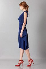 Drexcode - Dress with asymmetrical sleeves - Albino - Sale - 4