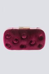 Drexcode - Burgundy velvet clutch - Anna Cecere - Sale - 1