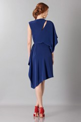 Drexcode - Dress with asymmetrical sleeves - Albino - Sale - 2