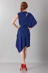 Drexcode - Dress with asymmetrical sleeves - Albino - Sale - 6