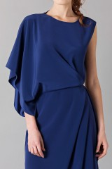 Drexcode - Dress with asymmetrical sleeves - Albino - Sale - 7
