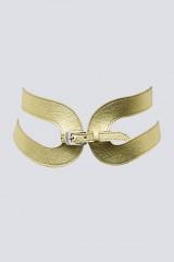 Drexcode - Gold leather belt  - Maison Vaincourt - Sale - 1