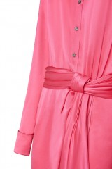 Drexcode - Abito camicia in seta drappeggiata - Redemption - Rent - 5