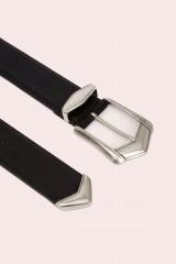 Drexcode - Cintura nera con fibbia invecchiata - IRO - Sale - 2