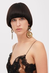 Drexcode - Round earrings with pendant - Alberta Ferretti - Rent - 1