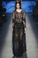 Drexcode - Long dress with lace decorations - Alberta Ferretti - Sale - 3