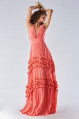 Drexcode - Strawberry dress with ruffles - Halston Heritage - Rent - 1