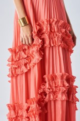 Drexcode - Strawberry dress with ruffles - Halston Heritage - Rent - 4