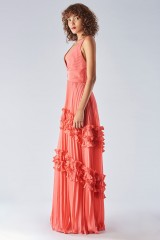 Drexcode - Strawberry dress with ruffles - Halston Heritage - Rent - 3