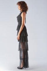 Drexcode - Asymmetric polka dot dress with ruffles - Forever unique - Rent - 5