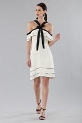 Drexcode - White and black off-shoulder flared dress - Proenza Schouler - Sale - 1