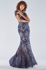 Drexcode - Blue lace dress with short sleeves - Catherine Deane - Rent - 2
