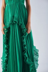 Drexcode - Bustier dress with front ruffles - Halston Heritage - Rent - 4