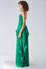 Drexcode - Bustier dress with front ruffles - Halston - Rent - 3