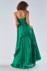Drexcode - Bustier dress with front ruffles - Halston - Rent - 2