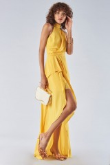 Drexcode - Dress with high collar and draping - Halston Heritage - Rent - 5