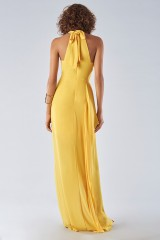 Drexcode - Dress with high collar and draping - Halston Heritage - Rent - 4
