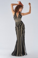 Drexcode - Dress with a two-tone sequin decoration - Forever unique - Rent - 1