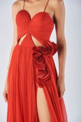 Drexcode - Dress with maxi slit and side application - Iris Serban - Rent - 2