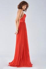 Drexcode - Dress with maxi slit and side application - Iris Serban - Rent - 5