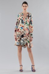 Drexcode - Short dress with colourful velvet inserts - Alice+Olivia - Rent - 6