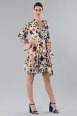 Drexcode - Short dress with colourful velvet inserts - Alice+Olivia - Rent - 5
