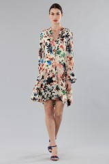 Drexcode - Short dress with colourful velvet inserts - Alice+Olivia - Rent - 3