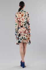 Drexcode - Short dress with colourful velvet inserts - Alice+Olivia - Rent - 4