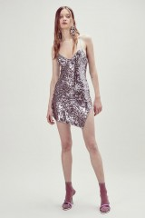 Drexcode - Short sequined dress with high slit - For Love and Lemons - Rent - 7